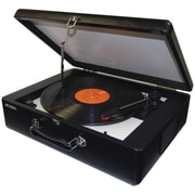 Jensen® JTA-420 Portable Turntable With Built-In Speakers, 33 1/3 RPM/45 RPM/78 RPM