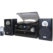 Jensen® JTA-475 3 Speed Turntable W/ CD, Cassette & AM/FM Stereo Radio, 33 1/3 RPM/45 RPM/78 RPM