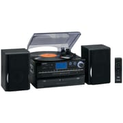 Jensen® JTA-980 Turntable 2 CD System W/Cassette & AM/FM Stereo Radio, 33 1/3 RPM/45 RPM/78 RPM