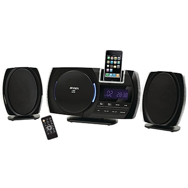 Jensen® JiMS-260i Docking Digital Music System For iPhone, iPod, Black