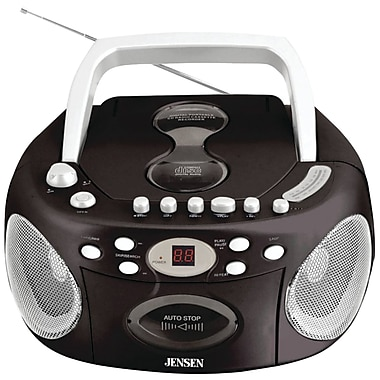 Jensen® CD-540 Portable Stereo CD Cassette Recorder With AM/FM Radio