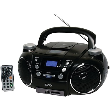 Jensen® CD-750 Portable AM/FM Stereo CD Player with MP3 Encoder/Player