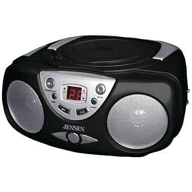 Jensen® CD-472 AM/FM Compatible CD Boom Box, Black