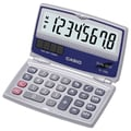 Casio® SL-100L 8-Digit Display Solar Calculator With Folding Hard Case