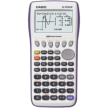 Casio® Computer FX9750GII-WE Graphing Calculator With USB Cable