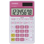 Casio® SL300VC 8-Digit Display Solar Wallet Calculator, Pink