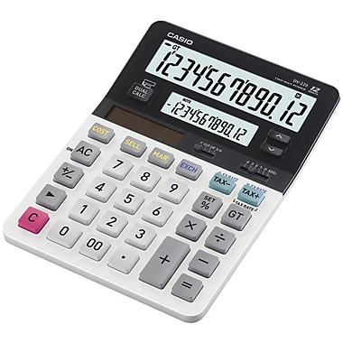 Casio® DV-220 12-Digit Dual Display Desktop Solar Calculator