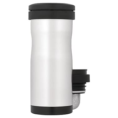 Thermos® 12 oz. Stainless Steel Tea Tumbler with Infuser, Black/Silver