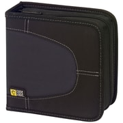 Case Logic® CDW-32 Nylon 32 Capacity CD Wallet, Black