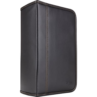 Case Logic® KSW-128T Faux Leather 128-Disc CD Wallet, Black