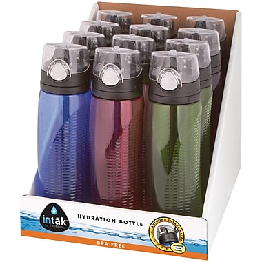 Thermos® 24 oz. Stainless Steel Counter Display with Tritan® Hydration Bottles, Blue/Pink/Green