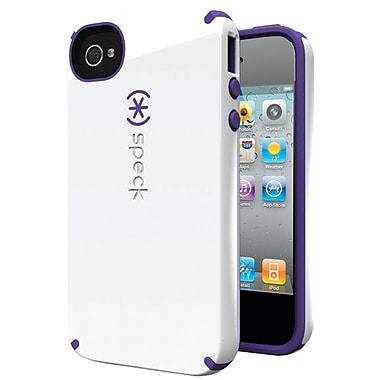 Speck® Candyshell Case For iPhone 4s, White/Aubergine