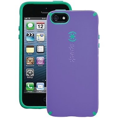 Speck® Candyshell Case For iPhone 5, Grape Purple/Malachite Green