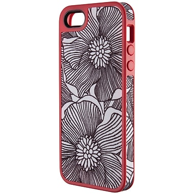 Speck® Fabshell Case For iPhone 5, Freshbloom Coral Pink/Black