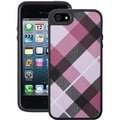 Speck® Fabshell Case For iPhone 5, Megaplaid Mulberry/Black