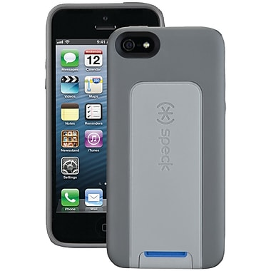 Speck® Smartflex View Case For iPhone 5, Graphite Gray/Light Graphite Gray/Cobalt Blue