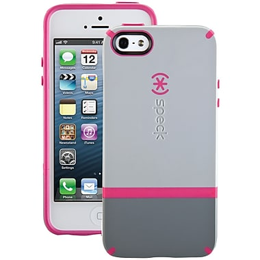 Speck® Candyshell Flip Case For iPhone 5, Pebble Gray/Gravel/Raspberry Pink