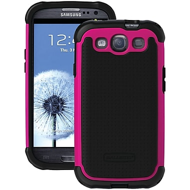 Ballistic® SG Series Case For Samsung Galaxy S III, Black/Pink