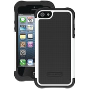 Ballistic® SG Case For iPhone 5, Black Silicone/Black/White PC