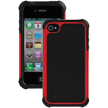 Ballistic® SG Case For iPhone 4/4S, Black/Red