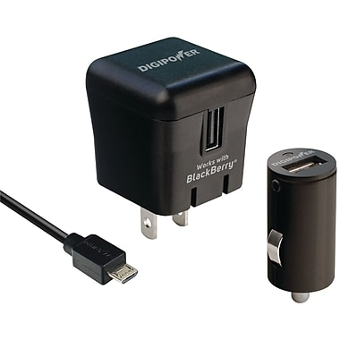 DigiPower® PD-PK1BB Home and Car Power Charger Kit For BlackBerry PlayBook