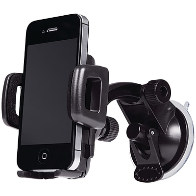 Merkury M-UPW110 Universal Smartphone Windshield Car Mount, Black 211143