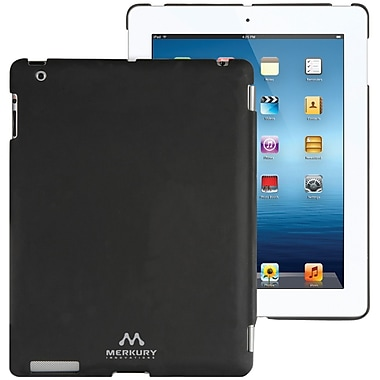 Merkury Smart Snap Secure Hardshell Case For iPad 3, iPad 2, Black