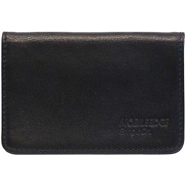 Mobile Edge Leather I.D. Sentry Credit Card Wallet, Black