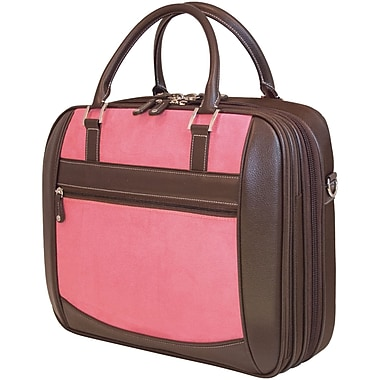 Mobile Edge MacBook® ScanFast™ 16in. Briefcase, Pink Suede