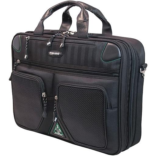 Mobile Edge Laptop Briefcase, Black Sorona (MESFBC2.0)