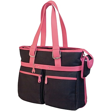 Mobile Edge MacBook® 16in. Eco-Friendly Notebook Tote, Black/Pink