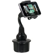 macally Adjustable Cup Holder For iPhone/iPod, Black