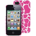 Macbeth Collection Hardshell Fashion Case For iphone 4/4s, Pink Giraffe