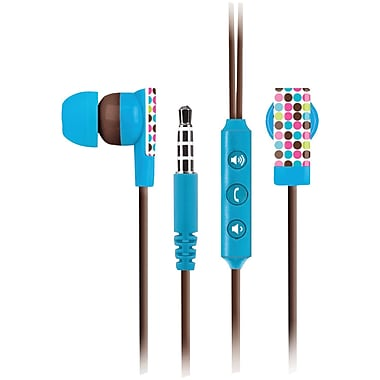 The Macbeth Collection Earbuds With Microphone, Biarritz Microdot
