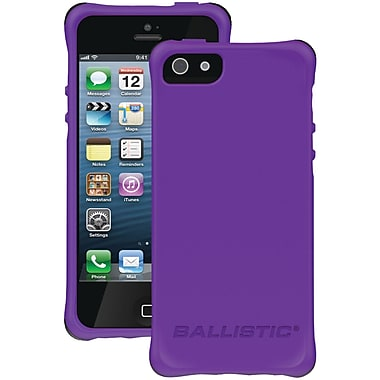 Ballistic® LS Smooth Case For iPhone 5, Purple Tpu With 4 White/Purple/Black/Teal Bumpers