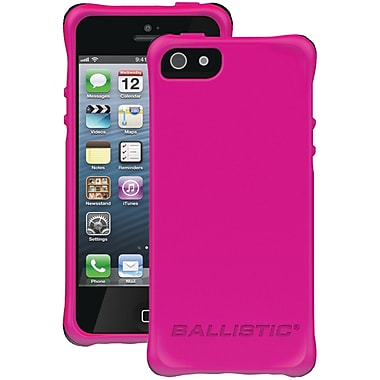 Ballistic® LS Smooth Case For iPhone 5, Hot Pink With 4 Black/Purple/Hot Pink/White Bumpers