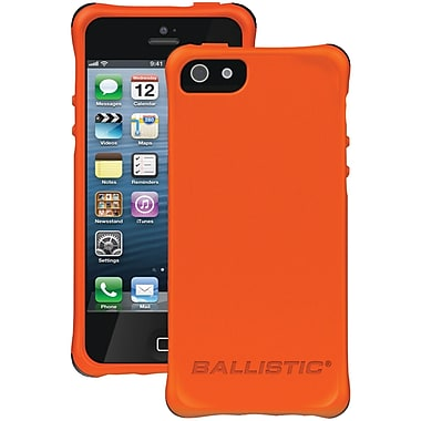 Ballistic® LS Smooth Case For iPhone 5, Orange With 4 Black/Orange/Hot Pink/White Bumpers