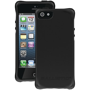 Ballistic® LS Smooth Case For iPhone 5, Black With 4 Black/White/Lime Green/Red Bumpers
