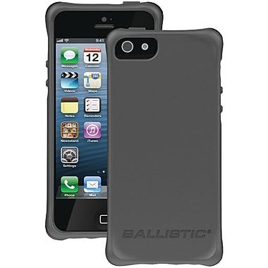 Ballistic® LS Smooth Case For iPhone 5, Charcoal With 4 Orange/Charcoal/Black/Teal Bumpers