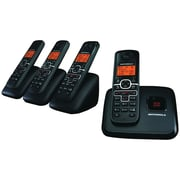 Motorola L704M Cordless Phone System With 4 Handsets, 30 Name/Number