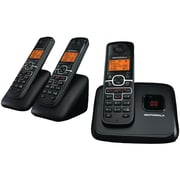 Motorola L703M DECT 6.0 Cordless Phone System With 3 Handset, 30 Name/Number