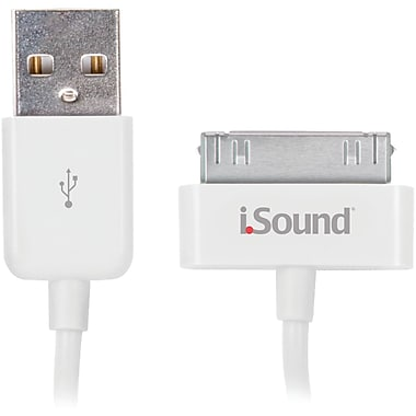 DreamGEAR® iSound® iSound-1663 Charge And Sync Cable For iPad/iPhone/iPod, White