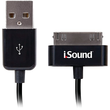 DreamGEAR® iSound® iSound-1662 Charge And Sync Cable For iPad/iPhone/iPod, Black