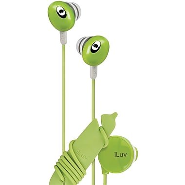 iLuv® Hi-Fi Headphones With Volume Control, Green