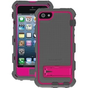 Ballistic® Hard Core Case For iPhone 5, Charcoal/Raspberry