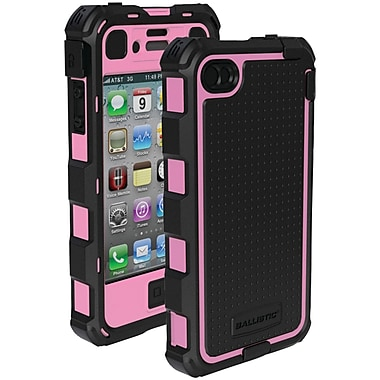Ballistic® Hard Core Case For iPhone 4/4S, Black/Pink