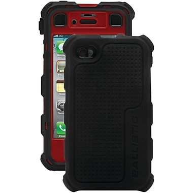 Ballistic® Hard Core Case For iPhone 4/4S, Black/Red