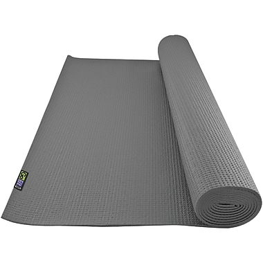Gofit GF-YOGA-G Non-Slip Surface Yoga Mat, Gray