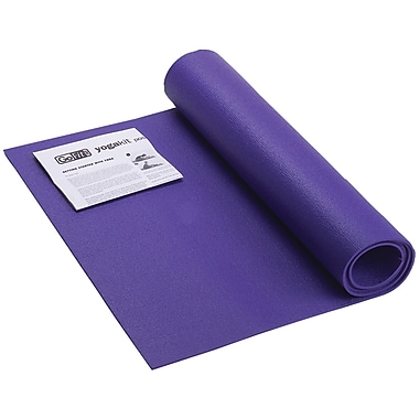 Gofit GF Yoga Mat with Yoga Position Poster, Blue