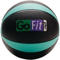 Gofit Rubber Medicine Ball, Black/Green